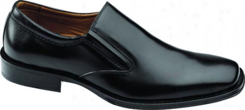 Johnston & Murphy Harding Plain Toe Slip-on (men's) - Black Italian Calf