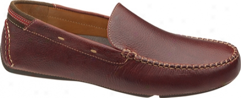 Johnston & Murphy Hembree Venetian (men's) - Red Tumbled