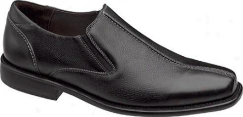 Johnston & Murphy Mavomb Center Seam Slip-on (men's) - Black Calfskin