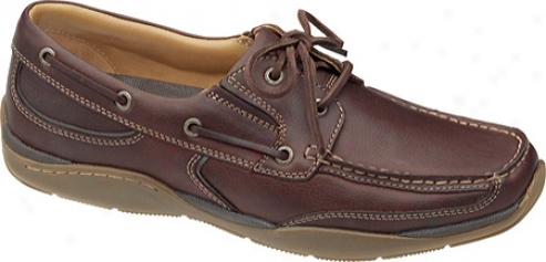 Johnstn & Murphy Mayhew Boat (men's) - Mahogany Full Grain Leather