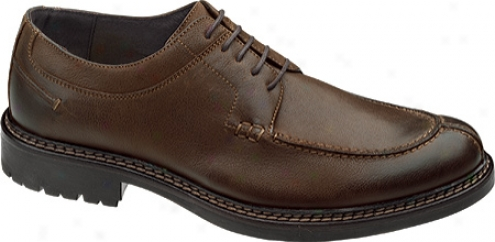 Johnston & Murphy Watta Y-moc Lace-up (men's) - Brown Burnished Italian Calfskin