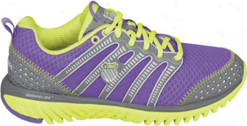 K-swiss Blade Light Run R (women's) - Neon Violet/charcoal/optic Yellow