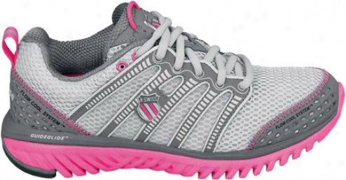 K-swiss Blade-light Run (women's) - Gull Grey/charcoal/neon Pink
