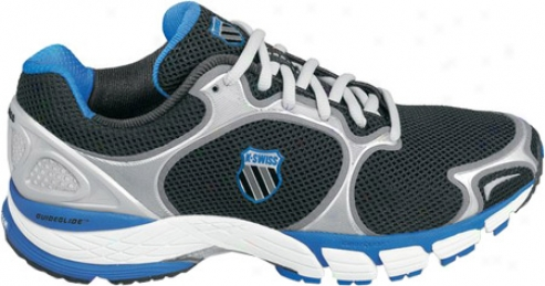 K-swiss California (men's) - Black/silver/brilliant Blue