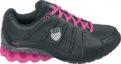 K-swiss Clear Tubes 50 (women'a) - Black/neon Pink/silver