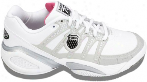 K-swiss Defier Ds (women's) - White/light Grey/raspberry Rose