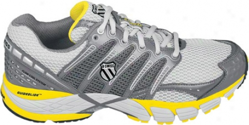 K-swiss Keahou Ii Np (men's) - Gull Grey/charcoa/bright Yellow