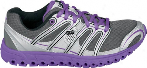 K-swiss Micro Tubes 100fit (women's) - Charcoal/silver/neon Violet