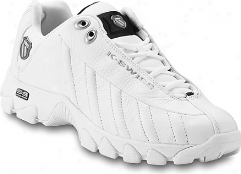 K-swiss St329 (men's) - White/black/silver
