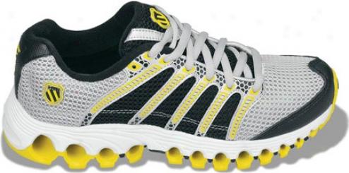 K-swiss Tubes Run 100 Mesh (children's) - Silver/black/gright Yellow