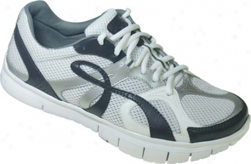 Kalso Earth Shoe Glide-k Vegan (men's) - White/navy Microfiber
