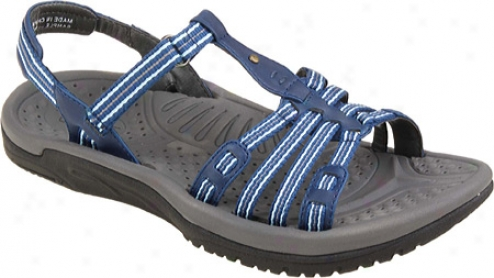 Kalso Earth Shoe Puerta (women's) - Blue Microfiber
