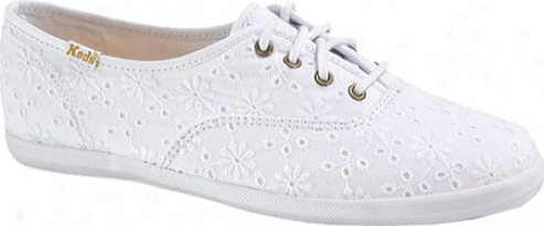 Keds Champion Eyelet (women's) - White Woven