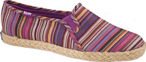 Keds Cgampion Jute Slip On (women's) - Multi Stripe Linen