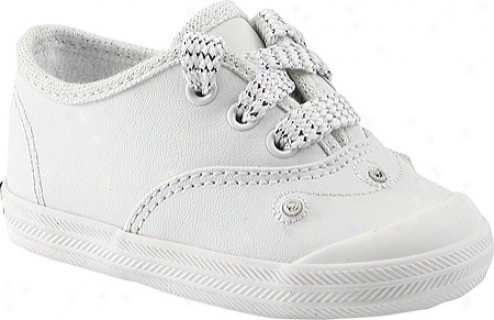 Keds Champion Lace Toe Cap (onfants') - White Embellished Leather