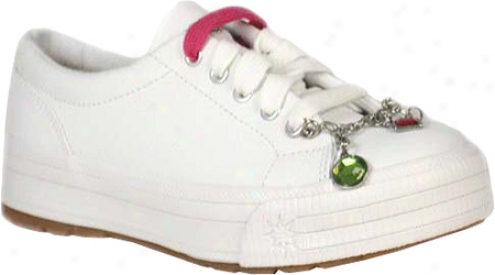 Keds Glisten (girls') - White Leather