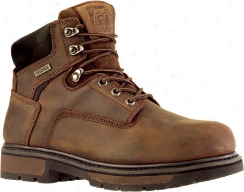 """kodiak Ballinger Steel Toe 6"""" Boot (213007) (men's) - Rich Brown Waterproof Cra2y Horse Leather"""