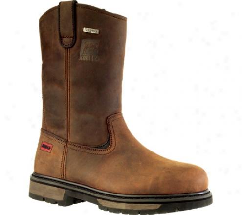 Kodiak Denton Pt W/p Wellington (409007) (men's) - Rich Brown Waterproof Crazy Horse Leather
