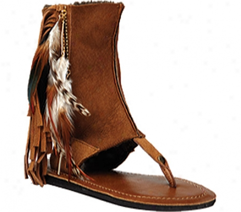 Koolaburra Kythira Feather 2 (wmen's) - Chestnut Merino Wool