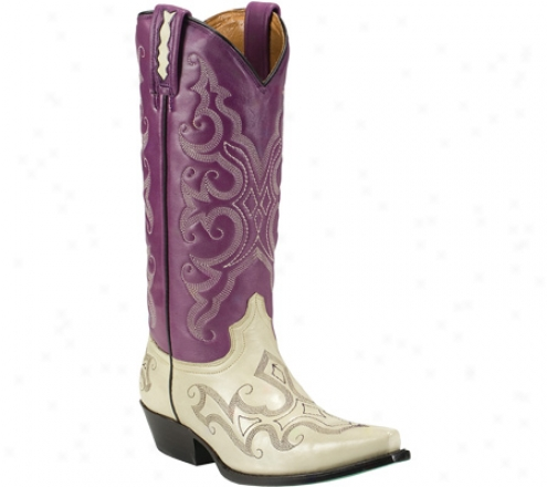 Lane Boots Royalty (women's) - Purple/bone Leather