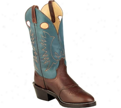 Laredo Buckaroo 13 (men's) - Brown Distressed/teal
