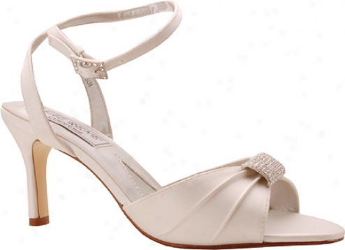 Liz Rene Audrey (women's) - White Silk Satin