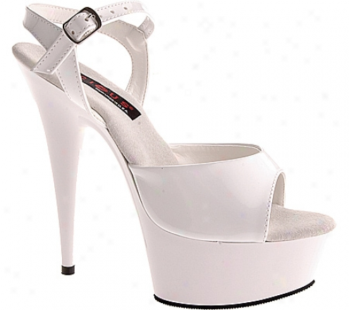 Lucious Covergirl-609 (women's) - White Patent/white
