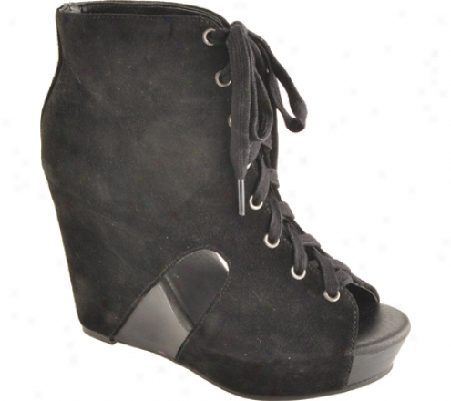 Lucky Stigma Nellie (women's) - Black Oiled Suede