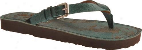 Lucky Brand Tropic (women's) -G reen Algae Greece Leather