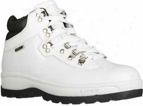 Lugz Broadway Sr (men's) - White/black Leather