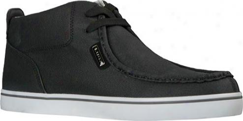 Lugz Strider Twill (men's) - Black/white/grey Textile