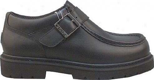 Lugz Strutt Lo W/strap-black Leather (men's)