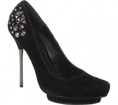 Luichiny Fanta See (women's) - Black Faux Suede