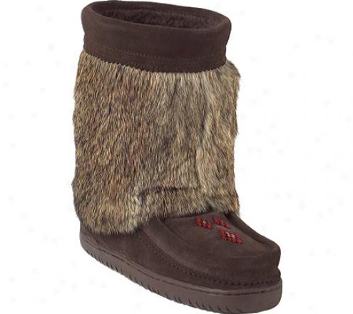 Manitobah Mukluks Half Vibram Sole Mukluk (women's) - Chocloate Cowhide Suede/rabbit Fur