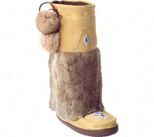 Mahitobah Mukluks Tall Suede Mukluk Boot (women's) - Tan Suede/tan Rabbit Fur