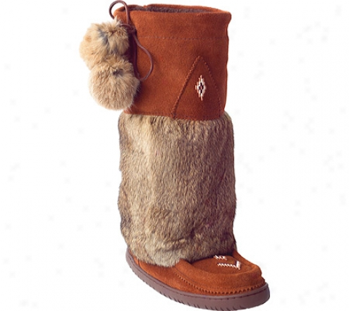 Manitobah Mukluks Tali Suede Mukluk (women's) - Copper Cowhide Suede/rabbit Fur
