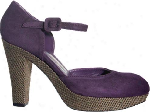 Marchez Vous Giselle (women's) - Purple/tweed Suede