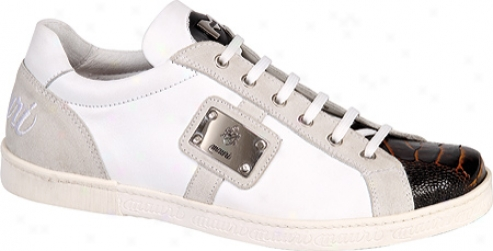 Mauri 8870 (men's) - White Nappa Leather/ostrich Leg/nubuck