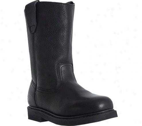 """mcrae Industrial 10"""" Wellington Mr85120 (men's) - Black Tumbled Leather"""