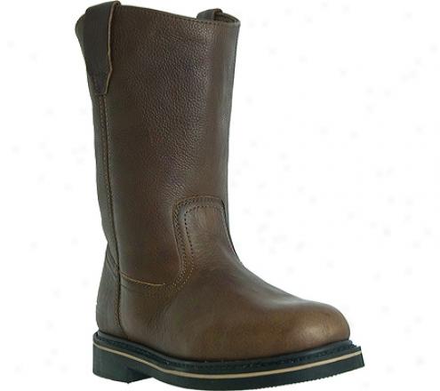"""mcrae Pertaining  10"""" Wellington Mr85122 (men's) - Peanut Brown Tumbled Leather"""