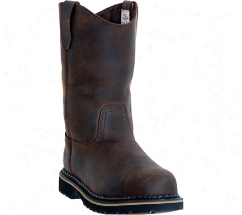 """mcraee Industrial 11"""" Wellington Mr85144 (men's) - Dark Brown"""