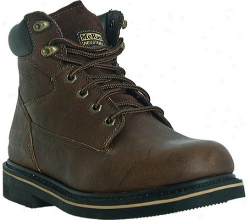 """mcrae Industrial 6"""" Lacer Mr86122 (men's) - Peanut Brown Tumbled Leather"""