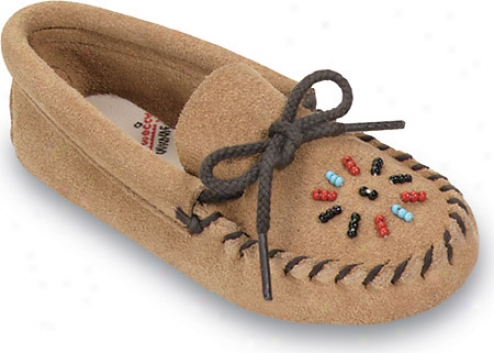 Minnetonka Beaded Moccasin (children's) - Imbrown Suede
