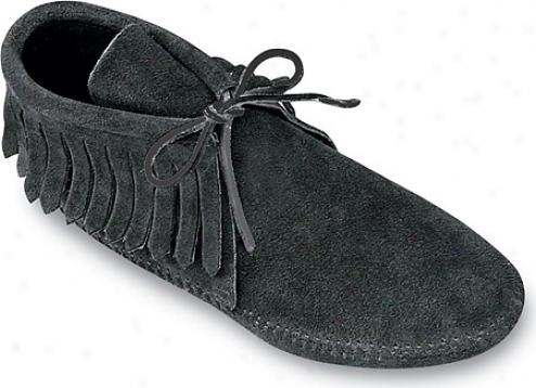 Minnetonka Classic Fringed Boot (women's) - Black