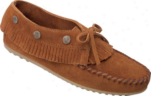 Minnetonka Fringed Moc (women's) - Brown Suede