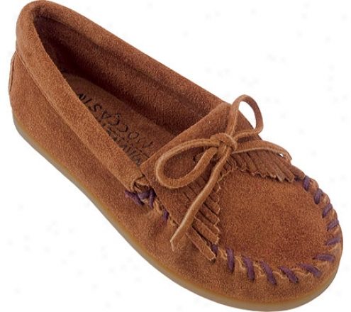Minnetonka Kilty Suede Moc (infants') - Bronw Suede
