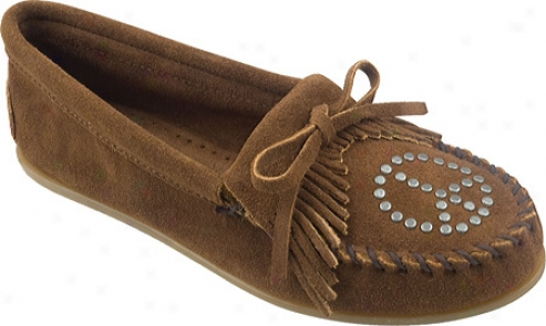 Minnetonka Peace Moc (women's) - Dusty Brown Suede