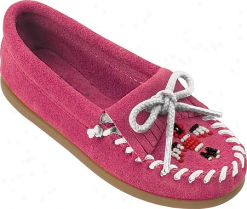 Minnetonka Thunderbird Ii (children's) - Hot Pink Suede