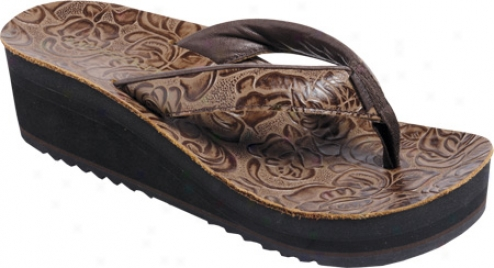 Moszkito 1105 Archy Wedge Tooled (women's) - Brown