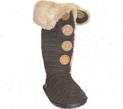 Muk Luks Crpchet Button Up Boot (women's) - Java